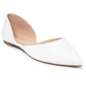 White Hedy D'Orsay Flat size 10